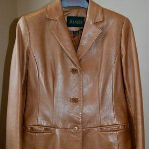 Danier Caramel Leather Blazer /Jacket P 4-6
